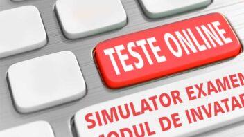 Testari online ANR